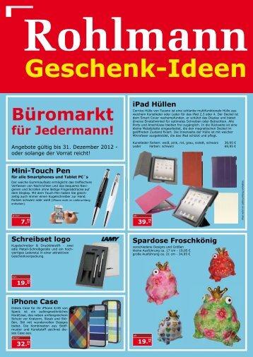 Geschenk-Ideen - Rohlmann