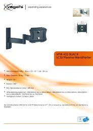 LCD/Plasma-Wandhalter VFW 432 BLACK - ICEcat.biz