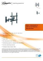 LED/LCD/Plasma- Wandhalter WALL 1245 BLACK