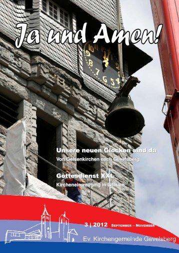Gemeindebrief 3 2012 - der evangelischen Kirchengemeinde ...