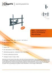 LED/LCD/Plasma- Wandhalter WALL 1325 BLACK - electronic4you