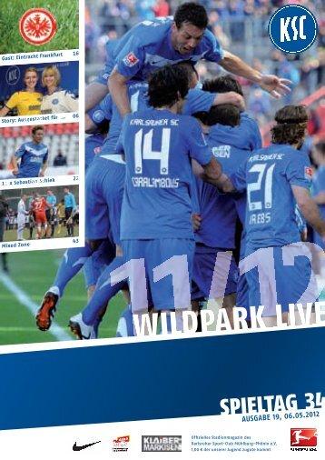 Stadionzeitung 34. Spieltag (KSC - Eintracht Frankfurt) - Karlsruher SC