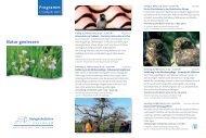 Programm Natur geniessen - Biologische Station Haus Bürgel