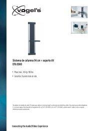 EFA 8840 Sistema de columna 94 cm + soporte AV