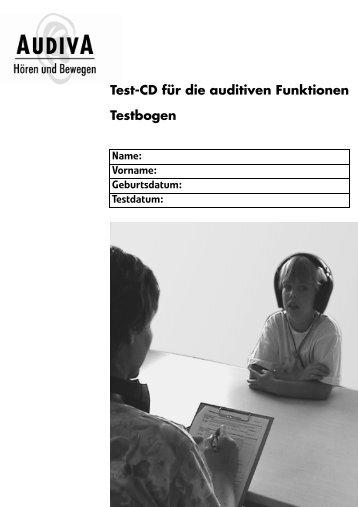 Test-CD die auditiven Funktionen - Audiva