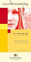 Frauen Wirtschafts Tage - Schorndorfer Unternehmerinnen Forum