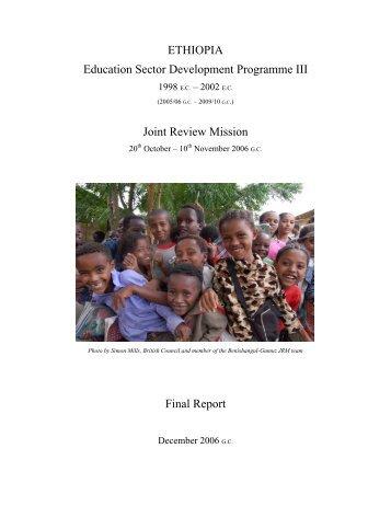 ETHIOPIA Education Sector Development Programme III - Global ...