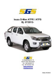 Isuzu D-Max ATFR / ATFS Bj. 07/2012 - SGS