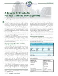 A Breath Of Fresh Air For Gas Turbine Inlet Systems - GE Energy