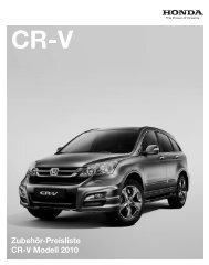 Zubehör-Preisliste CR-V Modell 2010