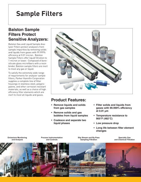 Compressed Air Filters Sample Filters - Parker Hannifin