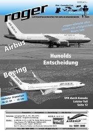 der fliegerladen - Roger - Luftfahrtnachrichten für Berlin und ...