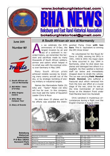 A South African Air Ace At Normandy Boksburg And East Rand