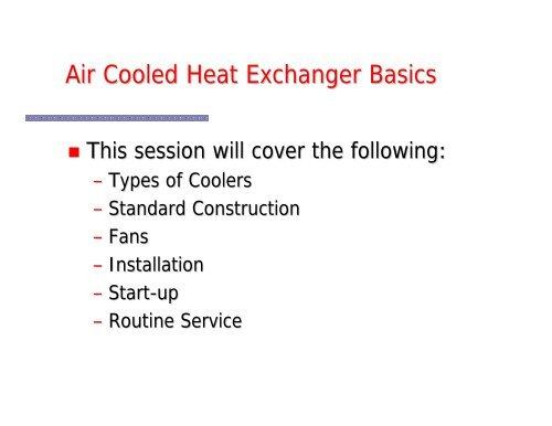 Service Basics 1 pdf - Air Cooled Exchangers, LLC