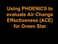 Using PHOENICS to evaluate Air Change Effectiveness (ACE) for ...