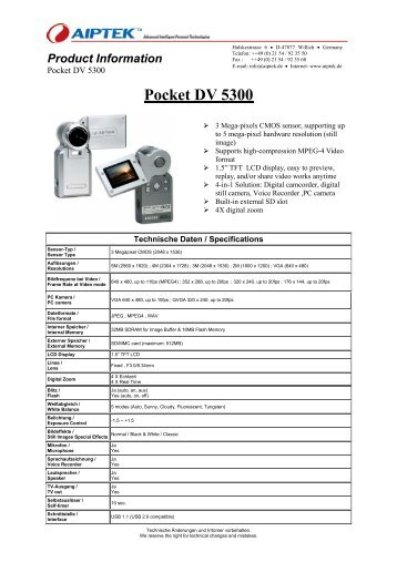 AIPTEK POCKET DV5300 WINDOWS 8 DRIVER
