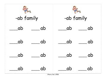 ame word family list &