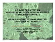 a round robin test on measurements of air void parameters in ...