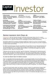 Capital Investor vom 21.08.2009