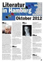 Oktober 2012 - Literatur in Hamburg