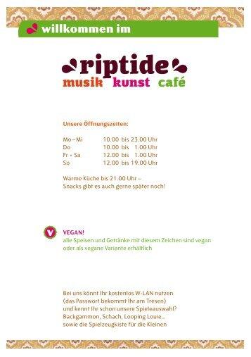 Unsere Speisekarte als PDF - Cafe Riptide