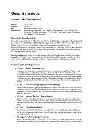 Gesprächsnotiz - Peine Marketing GmbH