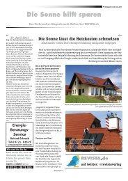 Die Sonne hilft sparen - Revista Verlag