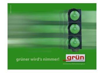 grüner wird's nimmer!