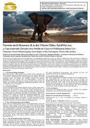 Fotoreise durch Botswana & zu den Viktoria Fällen ... - StefanoLevi