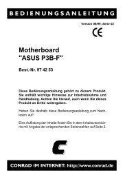 974253b Motherboard ASUS P3B-F - produktinfo.conrad.com