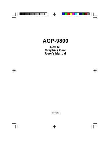 AGP-9800 Rev. A+ Graphics Card User's Manual - DFI