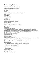 Liste der geehrten Sportler - SC Grün-Weiss Paderborn