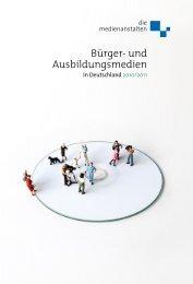Bürger- und Ausbildungsmedien - Thüringer Landesmedienanstalt