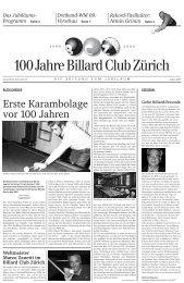 Schweizer-Meister-Titel Mannschaft - Billard Club Zürich
