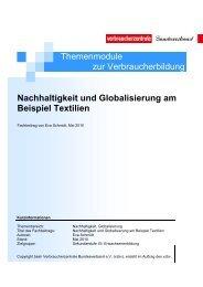 Nachhaltigkeit und Globalisierung am Beispiel Textilien