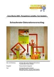 Schaufenster-Dekorationsvorschlag - Faire Woche