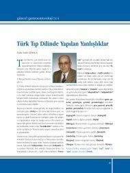 Türk Tıp Dilinde Yapılan Yanlışlıklar - Güncel Gastroenteroloji