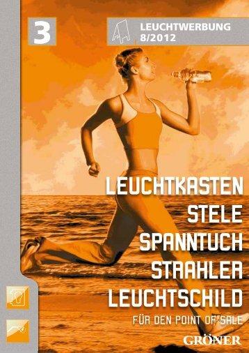 Leuchtkasten steLe spanntuch strahLer LeuchtschiLd - Karl Gröner ...