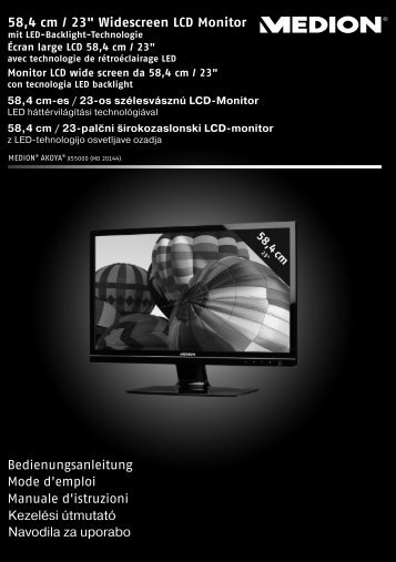 """58,4 cm / 23"""" Widescreen LCD Monitor ... - medion"""
