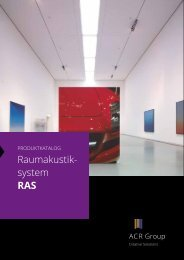 Raumakustik- system RAS - Acrylland