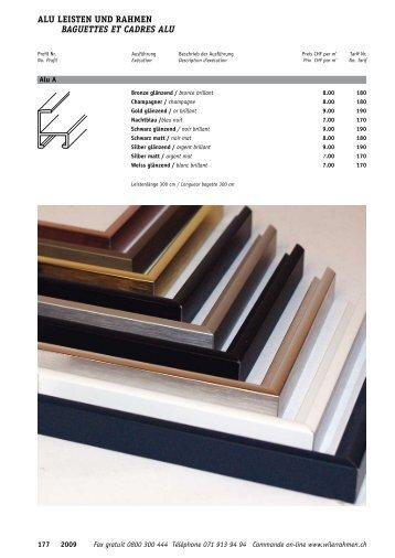 Leisten und Rahmen aus Aluminium - Wiler Rahmen