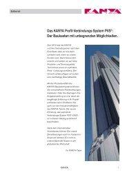 Das KANYA Profil-Verbindungs-System PVS®: Der Baukasten mit ...