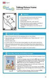 Talking Picture Frame Instruction Manual
