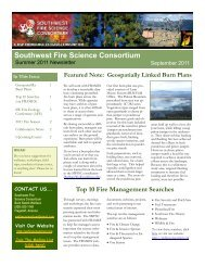 Summer 2011 - Southwest Fire Science Consortium