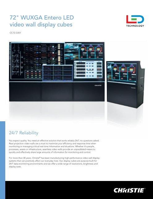 "72"" WUXGA Entero LED video wall display cubes - Christie Digital ..."