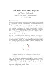 Mathematische Billardspiele - Tag der Mathematik - Carl von ...