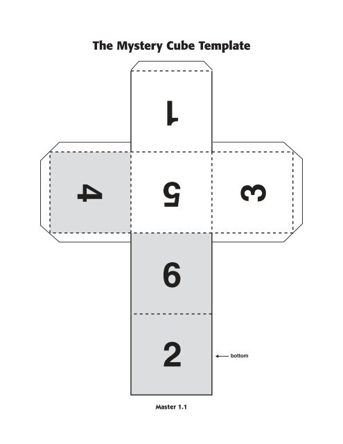 the mystery cube template nih office of science education