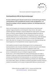 Homöopathische Hilfe bei Sportverletzungen - Österreichische ...