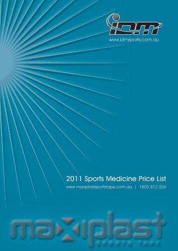 2011 Sports Medicine Price List - IDM Sports