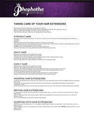 TAKING CARE OF YOUR HAIR EXTENSIONS - Phophotha